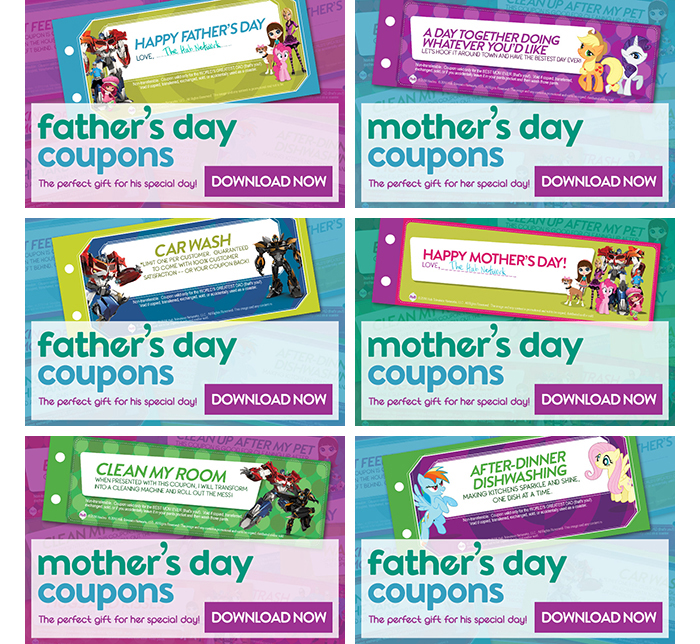 Hub Network- Mother's Day & Father's Day Coupons