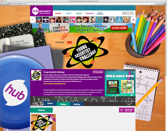 Hub Network Website Page- Young Scientists Challenge