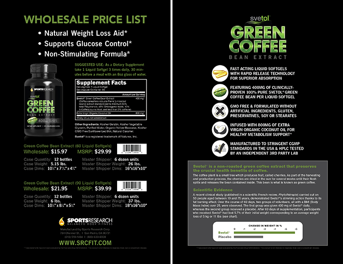 Green Coffee Bean Extract- Wholesale Price List