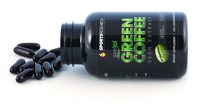 Green Coffee Bean Extract- Open Bottle